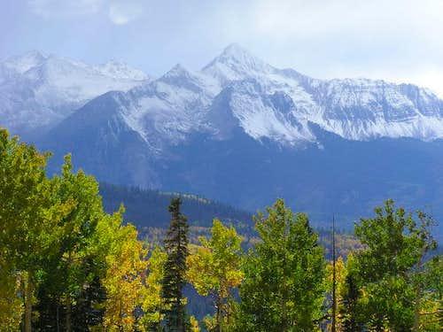 Wilson Peak from the top of...