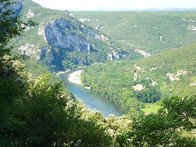 Ardèche river from upside