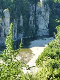 Ardèche river from Labeaume