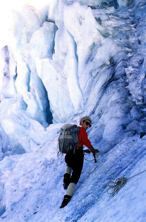 MONT PARAMONT <font color =blue>Central Serac on North Face</font> 1969