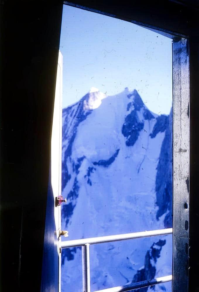 AIGUILLE BLANCHE de PE'UTEREY North Face from Piero Ghiglione Bivouac 1969