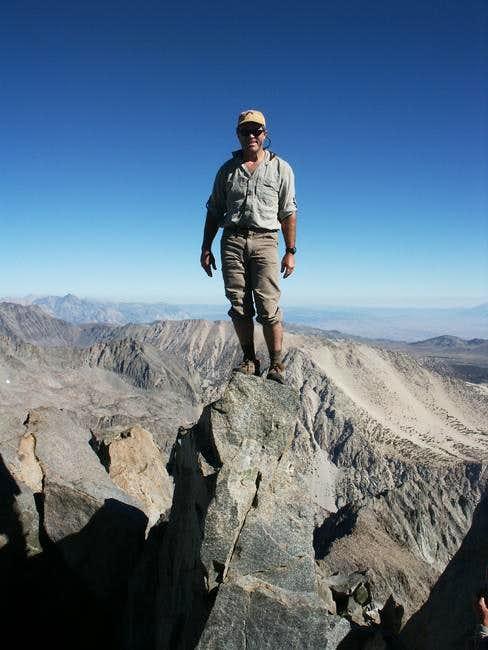 Charlie on the summit...