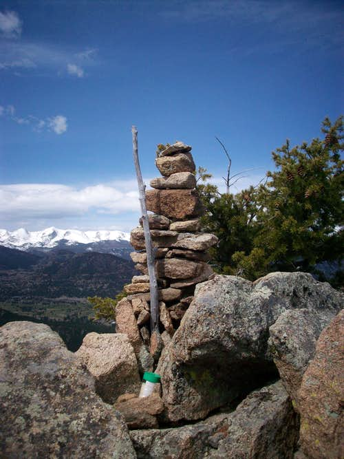 Mount Olympus summit cairn