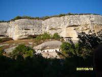 A house under the rock. Crimea