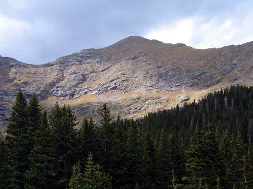 Fluted Peak's southeast face,...