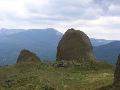 "Rock ""Hippopotamus"". Crimean mountains"