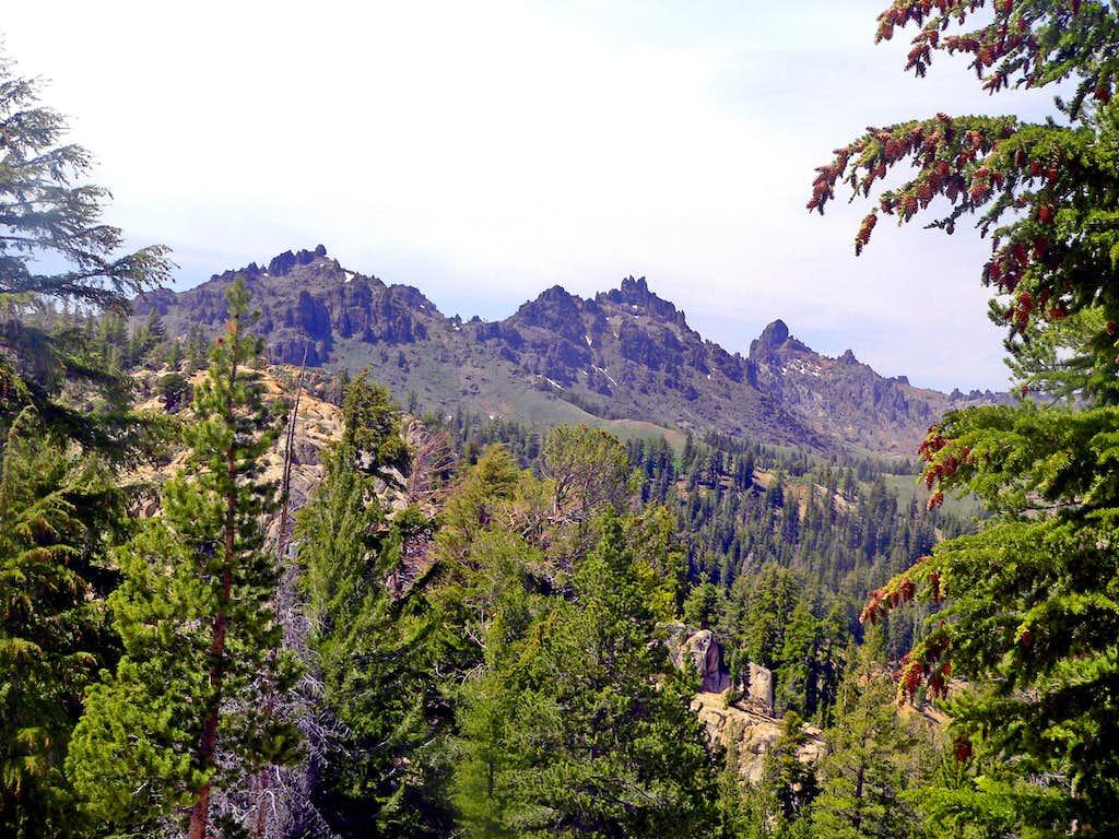 Sierra crest from lower Ebbetts Ridge