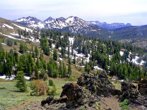 Hiram, Airola and Folger Peak from Ebbetts Ridge