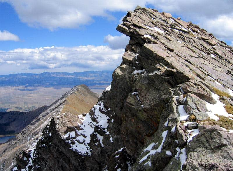 Fluted Peak overhang