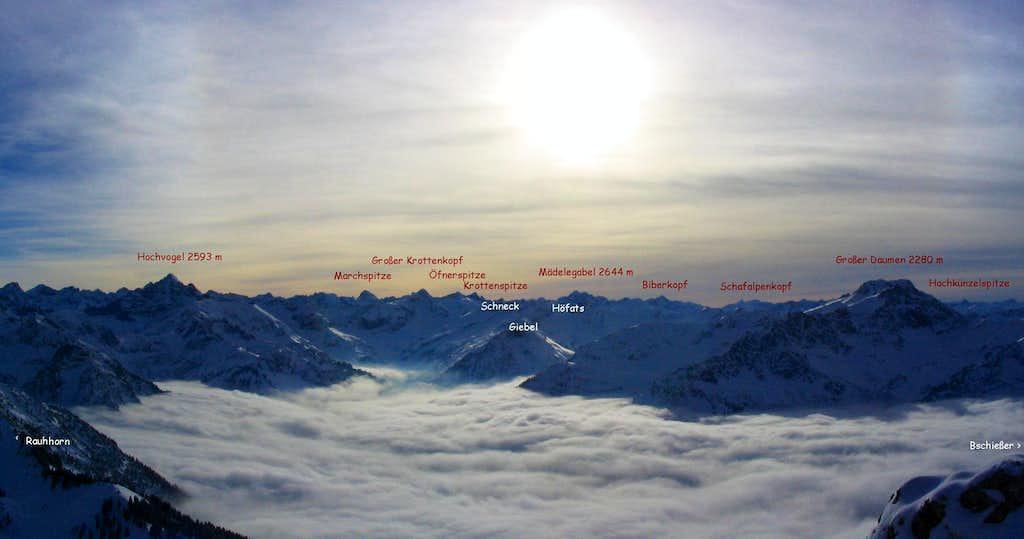 Allgäu Alps panorama from Ponten
