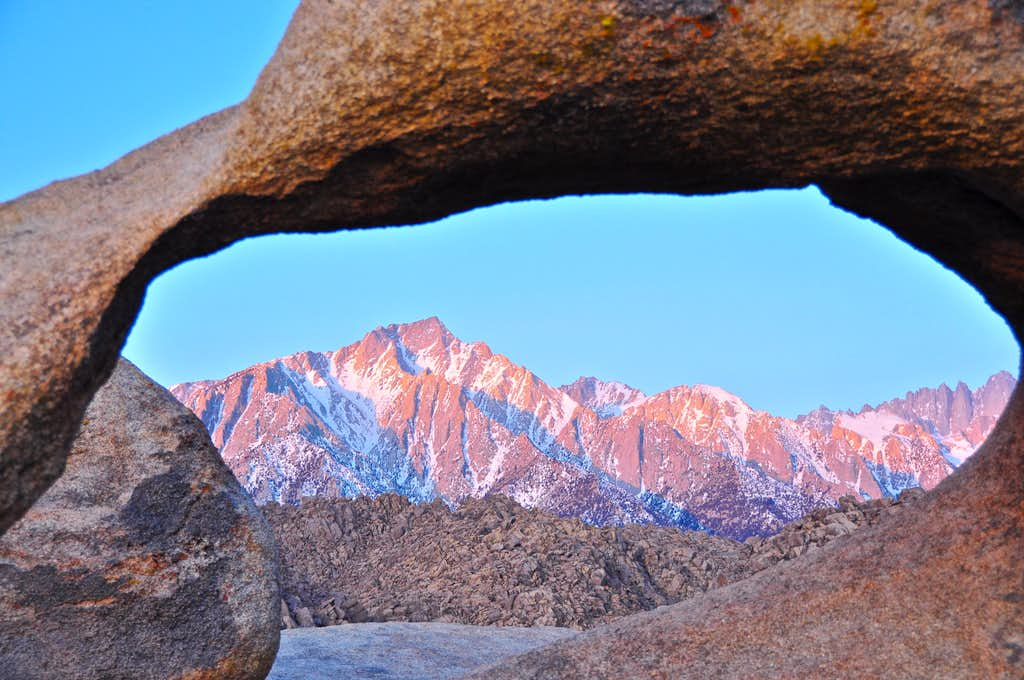 Mobius Arch and The Sierras