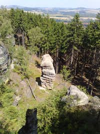 Interestingly shaped sandstone rock near Gratzer Höhlen, at