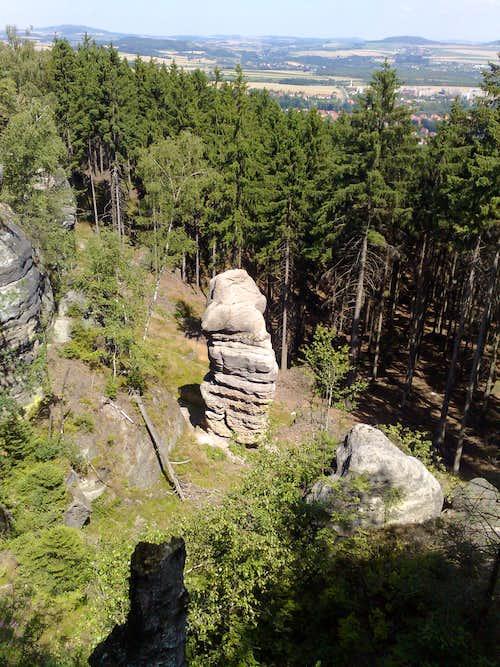 Interestingly shaped sandstone rock near Gratzer Höhlen, at