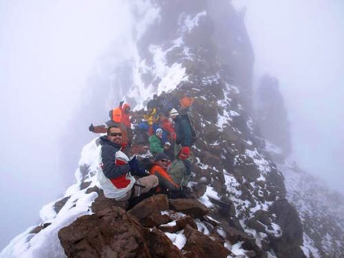 Carihuairazo\'s summit
