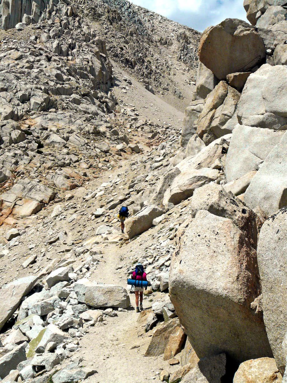 Approaching Mono Pass, 12,040'