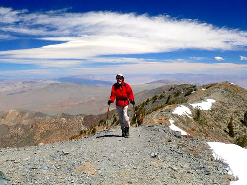 Father Time summiting Telescope Peak