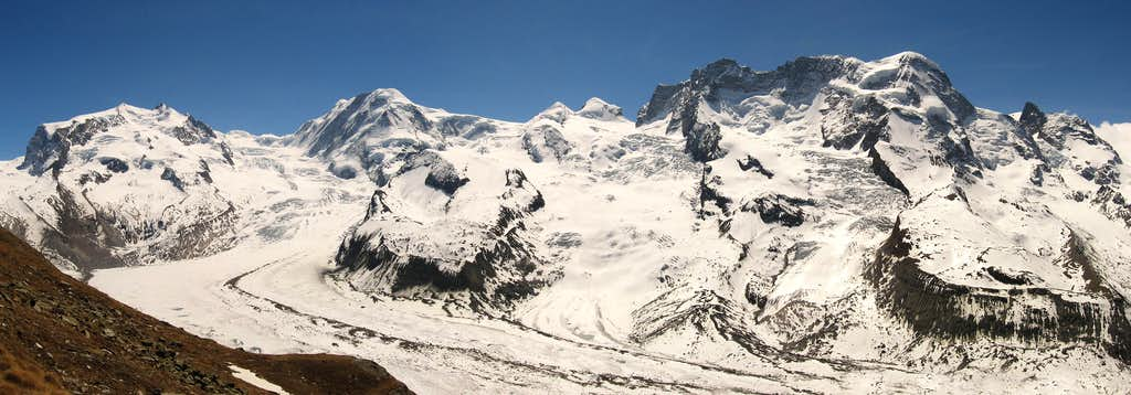 Monterosa group seen from Rotenboden.
