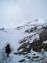 the ascent - Cristo couloir