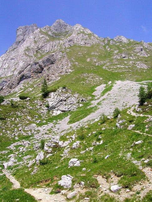 A slope of south ridge of...