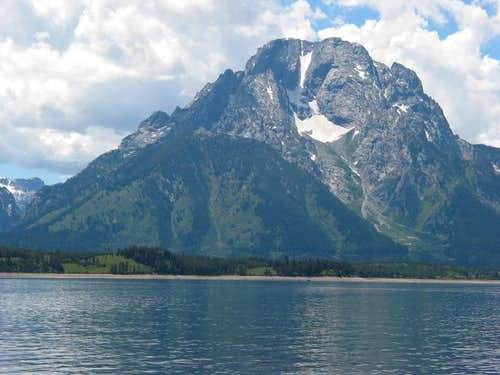 Mt. Moran from a rental boat....