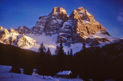 winter in monte pelmo near...