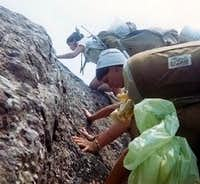 Rock Scrambling with Backpacks