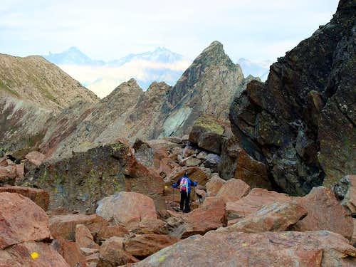 Ruvic: return from Giron Pass (2600m around) to Valmeriana's Valley