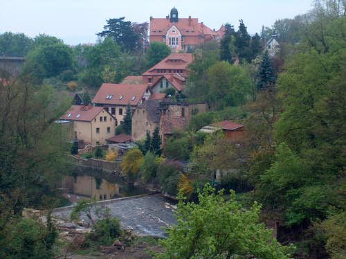 The Spree in Bautzen/Budyšin