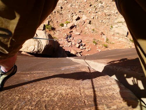 Looking down the Super Crack