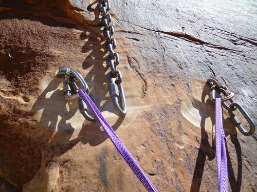 Super Crack anchors at the top of pitch #1