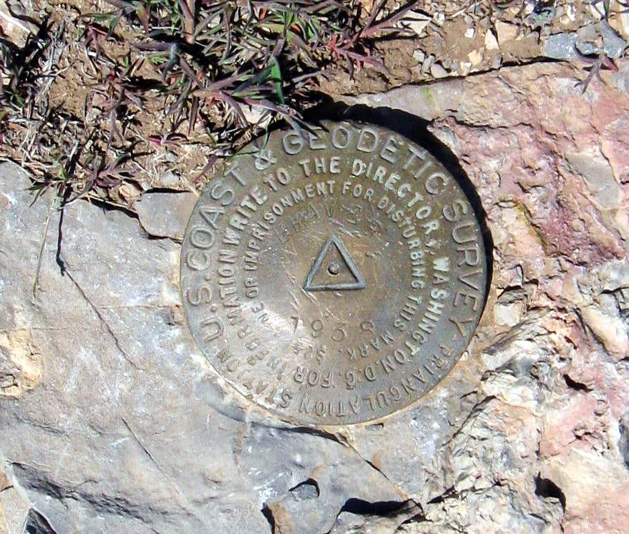 West Mountain Peak Benchmark