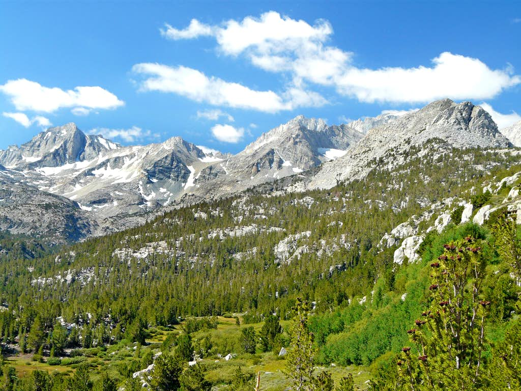 Little Lakes Valley from the Mono Pass Trail