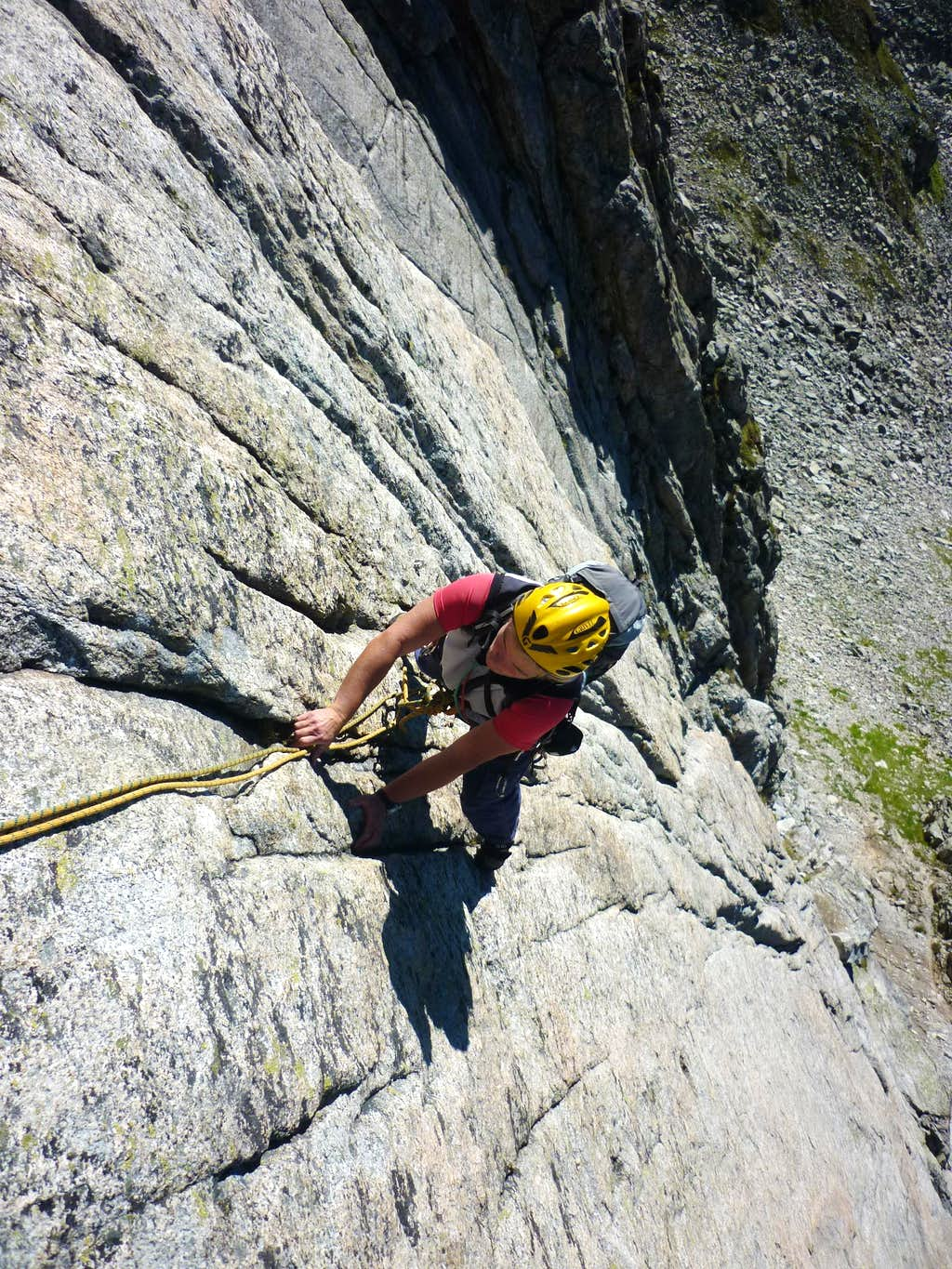 Tonis Lust first pitches' slabs, Bergseeschjien