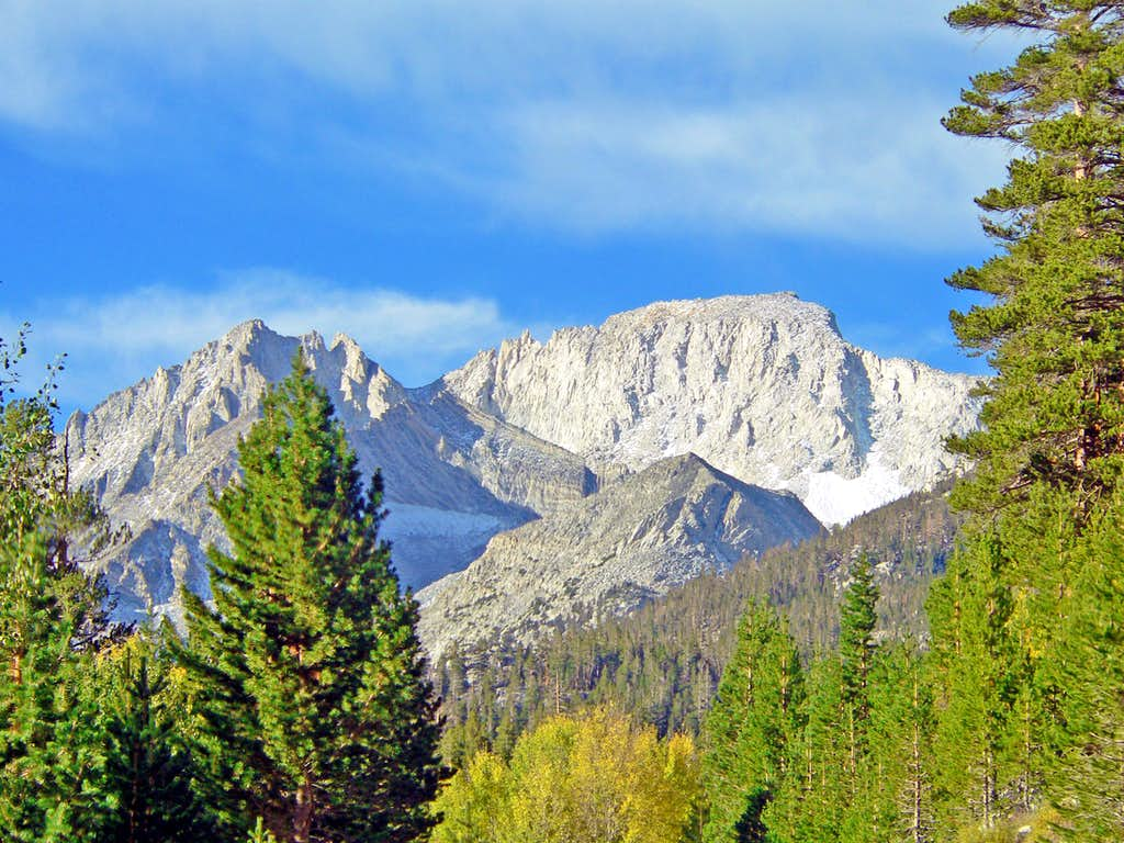 Mt. Dade and Mt. Abbot from the Rock Creek Road