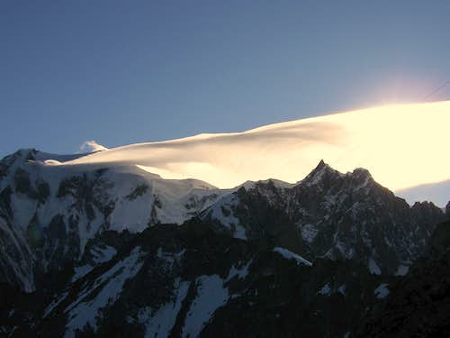 Cloud over Mont Blanc - as seen from Torino Hut