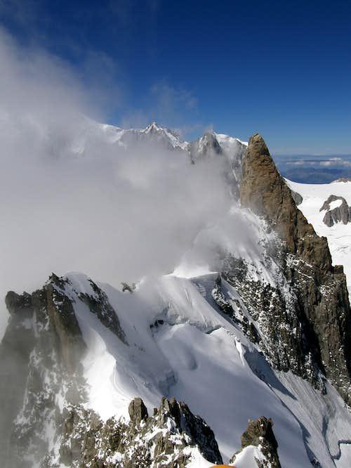 Rochefort Ridge as seen from Rochefort Summit