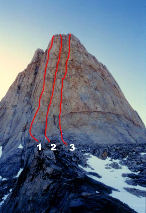 Paine Torre Central West Face Routes