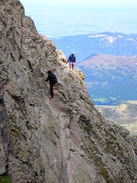 Climbing down from Colle...