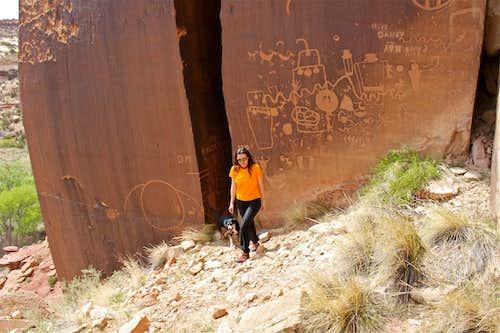 Petroglyphs at mile marker 4