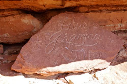 Blue Gramma plaque