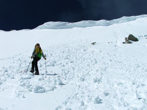 Nearing the summit ridge