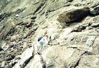 Joseph Duncan climbing the...