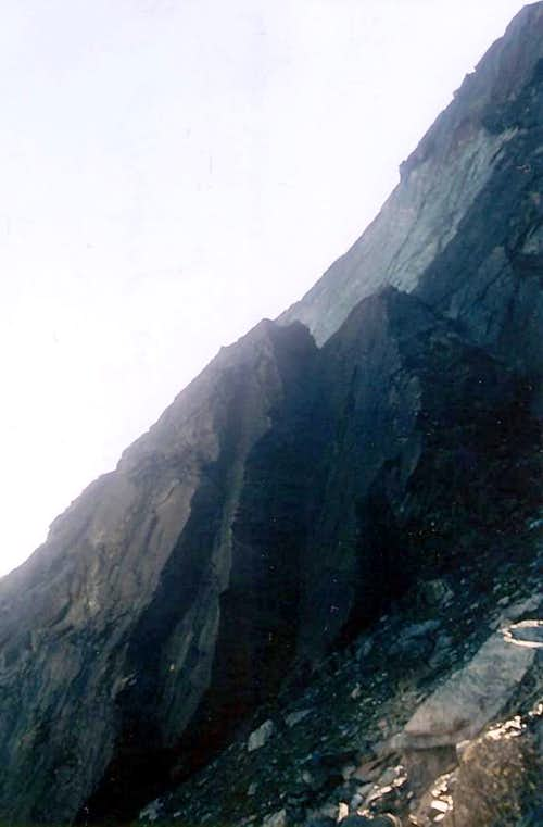 Climbing on Third Jag of Mont Ruvic