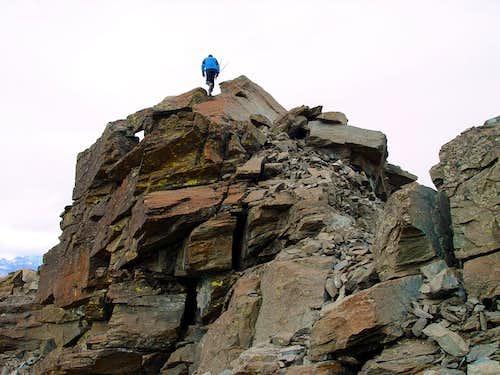 Mont Ruvic through N-NE Crest from Giron Pass