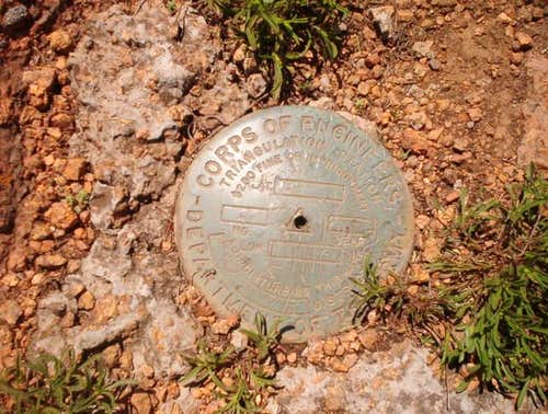 This survey marker is...