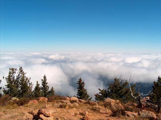 Clouds covering Colorado...