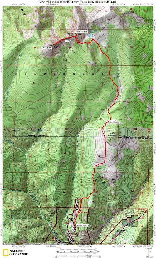 East Pecos Baldy/Pecos Baldy  Route