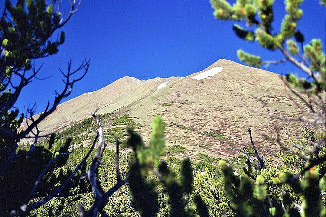 Brief view of Horn Peak from...