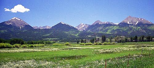 The view of the Sangres from...