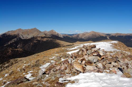 East Pecos Baldy, summit view north